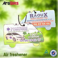 Cheap wholesale absorbent top quality logo printed car paper air freshener