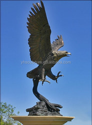 outdoor use Brass eagle sculptures