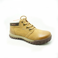 Fashion European real leather flat boots shoes for men/winter boots hiking shoes with cheap prices