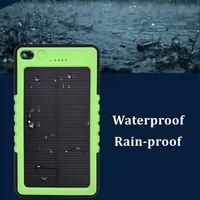 Shenzhen odm dual usb waterproof solar charger power bank 8000mAh