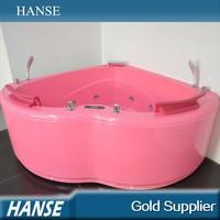 HS-B1807T corner install heart-shape pink color sex in bathtub