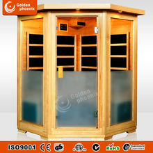 New luxury infrared home sauna G3CB corner sauna low EMF carbon heater