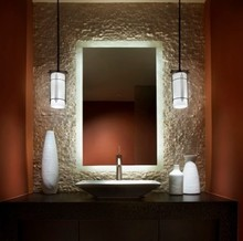 Motel Disco Corridor Decorative Floating Wall Mirror Fix LED Illuminated Wall Mount Movable Bathroom Mirror