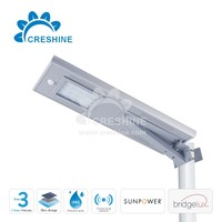 Solar Luminaries LED Integrated Street Light 20W Solar Panel Price