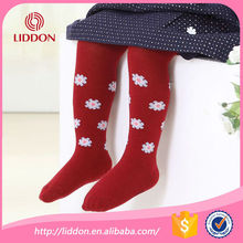 custom made baby infants flower jacquard cotton pantyhose tights
