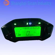 New Digital LCD Motorcycle Meter Speedometer Odometer Motor Bike Tachometer
