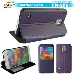 fashion luxury PU leather phone flip case for Samsung galaxy