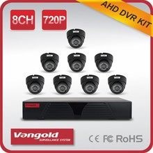 Interior 720 P AHD Kit cámara plástica de la bóveda alta definición soporte P2P