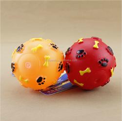 soft ball dog teeth vinyl toy, round ball vinyl toy for dog teeth, custom pets playing vinyl toy