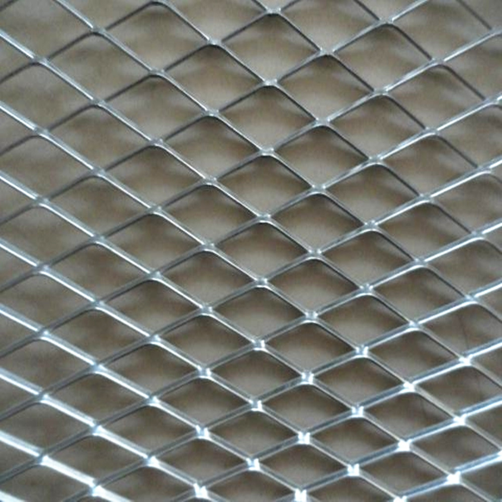 Metal Screen Material : Expanded metal wired security screen material mesh