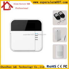 DIY wireless alarm system for home security industry Built in dedicated emergency alarm zone and fire alarm zone