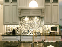 High quality Dove grey solid wood kitchen cabinetry