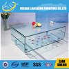 2015 new model living room transparent coffee table , tea table