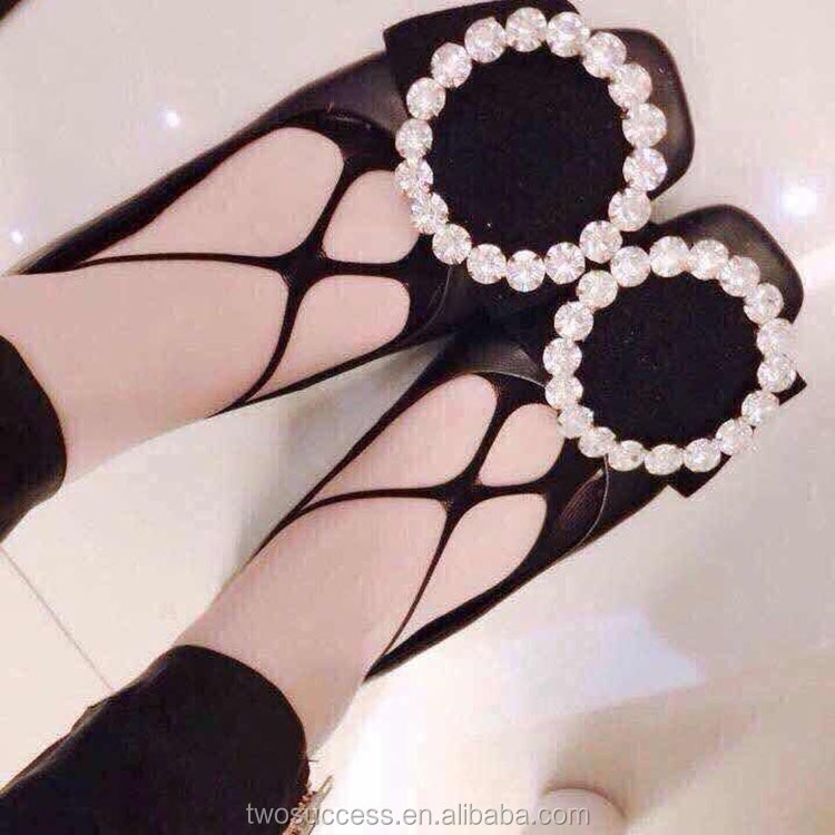 Hollow flower lace jacquard women sexy summer invisible socks .jpg