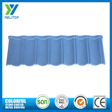 Light weight blue stone metal tile roofs