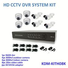 2014 HOT Security!! 8ch HD Dvr 960H kits, camera surveillance kit