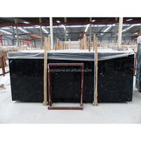 2015 China black color good price marble products