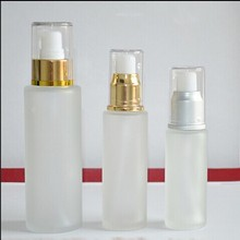 50ml glass lotion bottle for cosmetic packaging