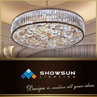 Chandelier istanbul chic circular crystal ring style bottom glass flower pendants lighting