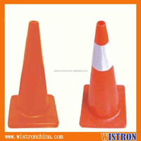 70 cm flexible traffic cone with high intensity reflector