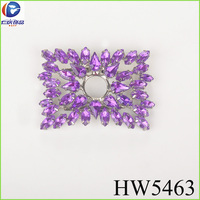 purple rhinestone buckle back side with clips