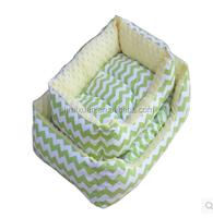 Wholesale manufacturer of high quality pet cat litter dog kennel Super rich colorful stripe square dog sofa