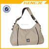 china suppliers custom plain canvas fashion lady handbag tote bag
