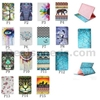 Tribal Style Elephant Pattern Side Flip Stand TPU+ PU Leather Cover for iPad Mini 4