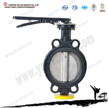 4inch cast iron handle wafer type butterfly valve
