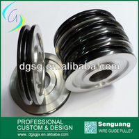 The filament Industry Take-Up machine Pulley, Excellent Wear Resistance Spary Ceramic Wheel,aluminum pulley
