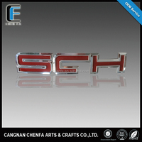 Wholesale 3D ABS plastic chrome plated self- adhesive car grille badges car badge