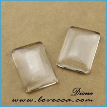 Rectangle Shaped Clear Glass Cabochons- 10mm/ 12mm/ 15mm/ 20mm/ 25mm As your choice VI