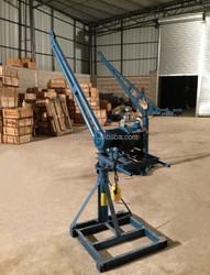 portable construction winch crane, construction winch crane, small portable elevator