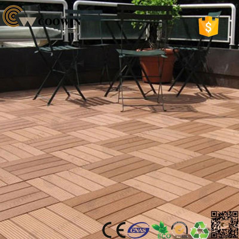 Baldosa madera exterior piso de madera reciclada en for Baldosas para terraza baratas