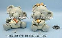 elephant coin box polyresin money saving box