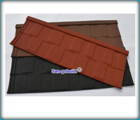 Colorful Stone Coated Roof Tiles Building Roofing Material