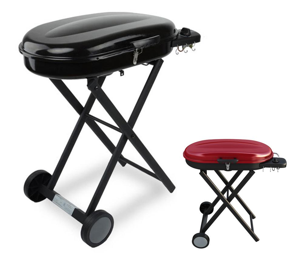 portable grils gaz avec pliable chariot panier pour. Black Bedroom Furniture Sets. Home Design Ideas