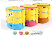 Cartoon character baby food storage container/plastic insulated container