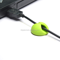 hot sales round two holes cable holder high quality multipurpose wires organize