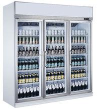 China hit 3 sliding door beer freezer / 1500 l capacity