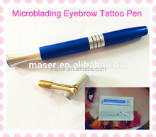 Fashion design tattoo microblading embroidery needle permanent makeup eyebrow manual microblade pen