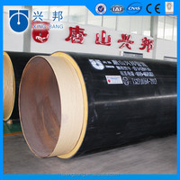 pu foam hdpe wrapped insulated steel pipe for crude oil supply