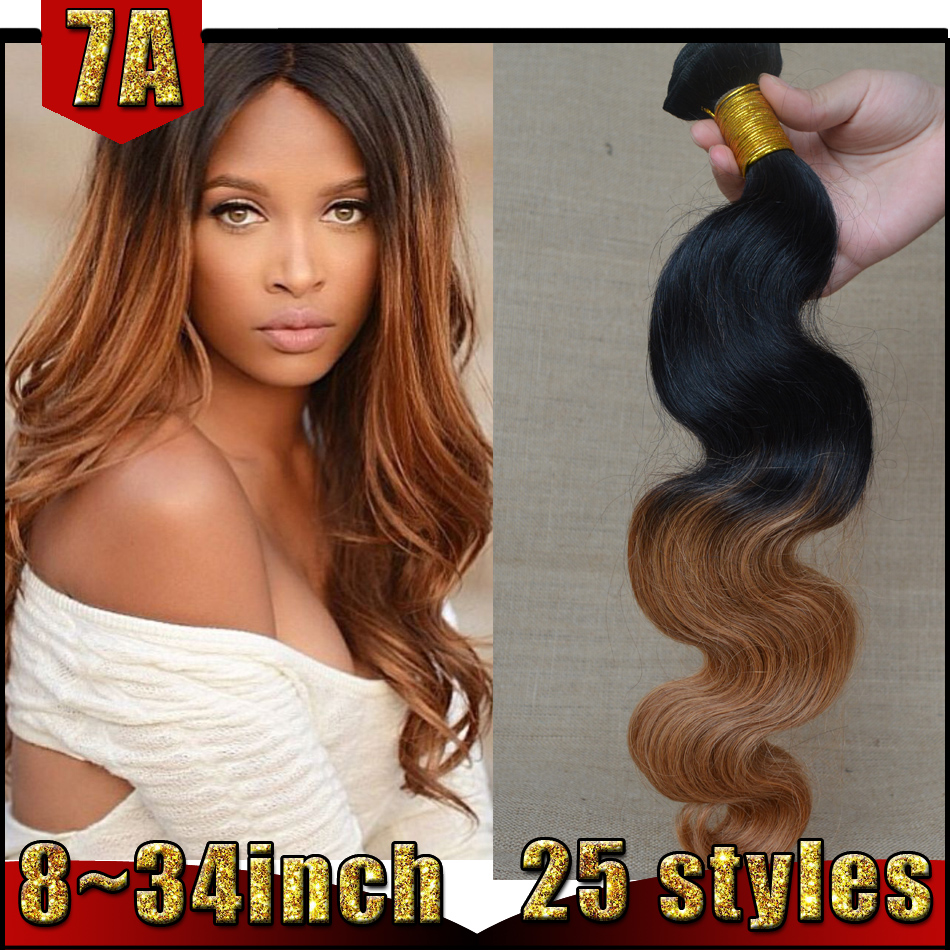Cheap Ombre Hair Extensions Remy Indian Hair