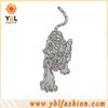 garment accessories,hotfix tiger rhinestone design for decoration