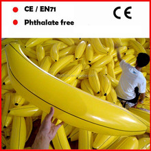 custom logo printing Giant advertising inflatable banana toys for sale