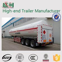 52.6m3 Pressure vessel certificate cryogenic lng semi trailers
