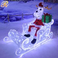 Battery operated christmas sleigh indoor decoration