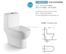 One Piece Toilet - S-Trap 300MM and 400MM - Siphonic One Piece close WC