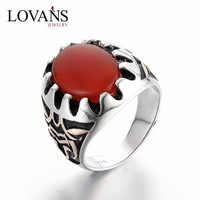 925 Sun Silver Ring Cheap Gemstones Agate Jewelry Ring With Big Stone JewelrySRG286W