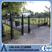 Protector wrought iron 975 x 900mm Black Flat Top Garden Gate
